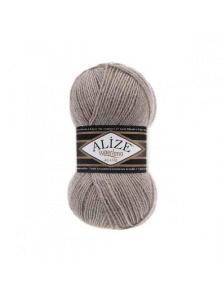 Пряжа Alize Superlana Klasik,№207,цв-светло-коричневый,100гр-280 метров