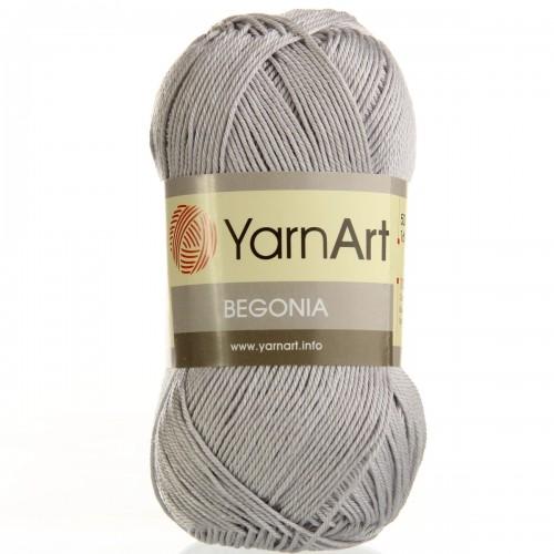 Пряжа Begonia YarnArt-Бегония.№4920-серый, 50гр-169 м