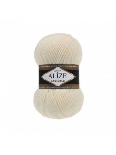 Пряжа Alize-Ланаголд (Lanagold) цв-01 (кремовый)