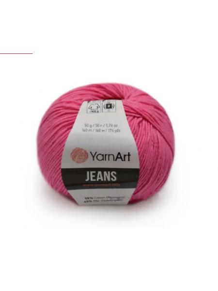 """Пряжа  YarnArt """"Jeans Джинс""""цв. 42, тёмно розовый"""