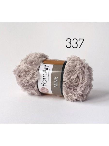 Пряжа YARNART-MINK(Минк),имитация меха.цв-бежевый,№337