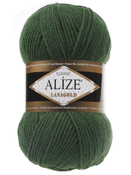 Пряжа Alize-Ланаголд (Lanagold) цв-118(зелёный яркий)