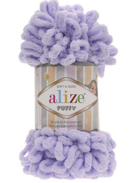 Пряжа Alize Puffy-цвет неж.сирень,100 гр-9 м