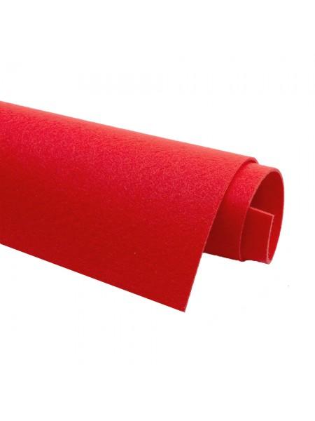 Корейский фетр,жесткий,красный.1,5 мм,размер 33*26см