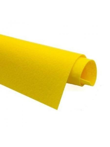 Корейский фетр,жесткий,жёлтый.1,5 мм,размер 33*26см