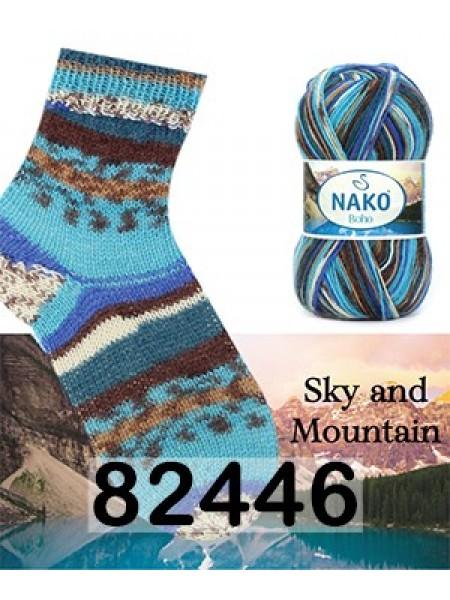 Носочная пряжа BOHO NAKO (БОХО НАКО)-82446