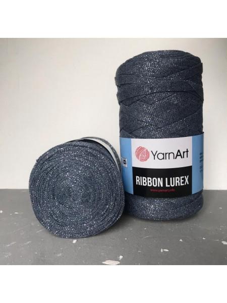 Пряжа Ribbon Lurex (Риббон Люрекс) 250гр - 125м (Пыльно-синий с серебром),№730
