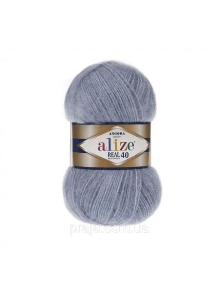 Пряжа Ализе Ангора реал 40,цвет 221-светлый джинс