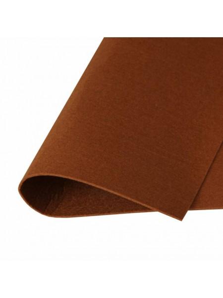 Корейский фетр,жесткий,коричневый.1,5 мм,размер 33*26см