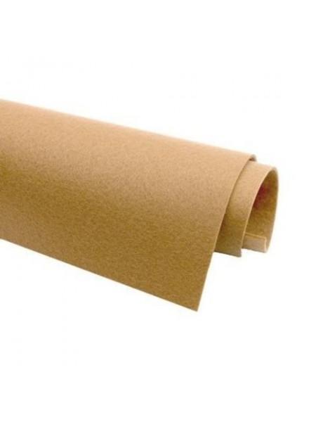 Корейский фетр,жесткий,бледно-коричневый.1,5 мм,размер 33*26см