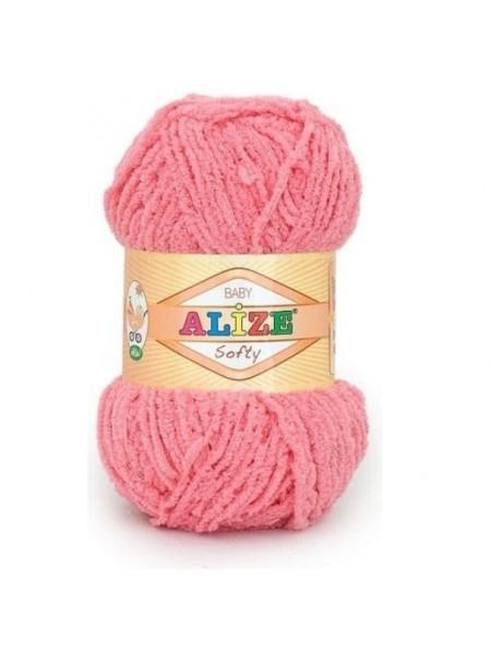 Пряжа Alize Softy,цв-коралловый,50 гр