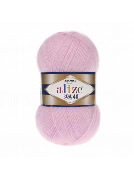 Пряжа Ализе Ангора реал 40,цвет 185-розовый