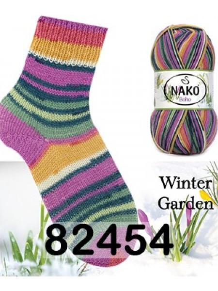 Носочная пряжа BOHO NAKO (БОХО НАКО)- 82454