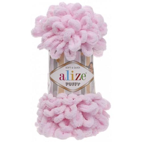 Пряжа Alize Puffy-цвет светло-розовый,100 гр-9 м