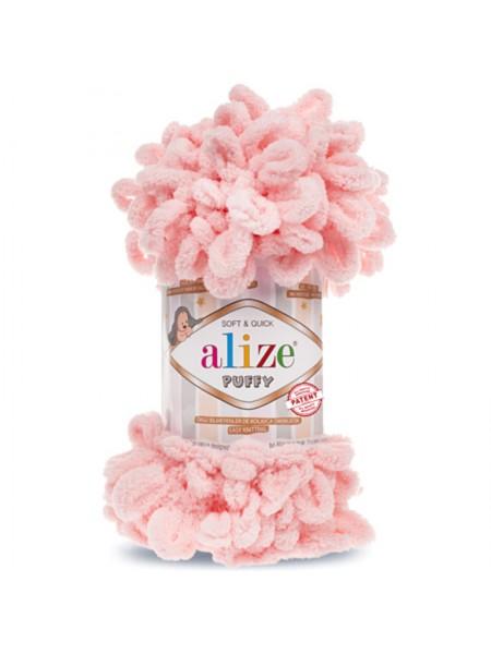 Пряжа Alize Puffy-цвет пудровый,100 гр-9 м
