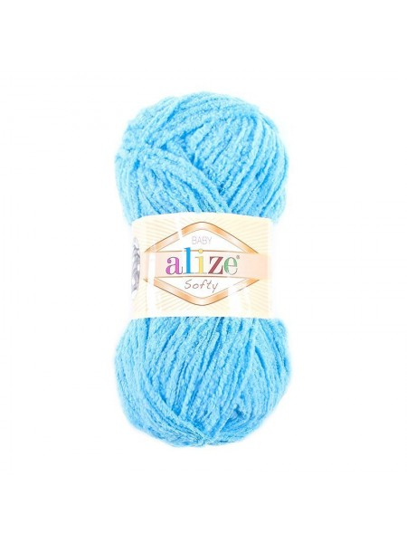 Пряжа Alize Softy,цв- голубой,50 гр