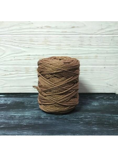 Шнур для вязания,  3мм, цв. коричневый,200 метров