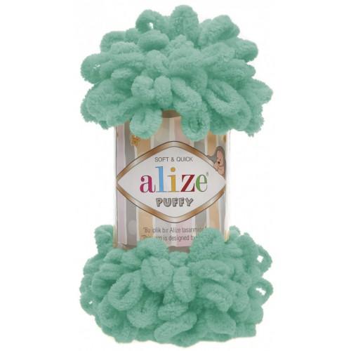 Пряжа Alize Puffy-цвет мята,100 гр-9 м