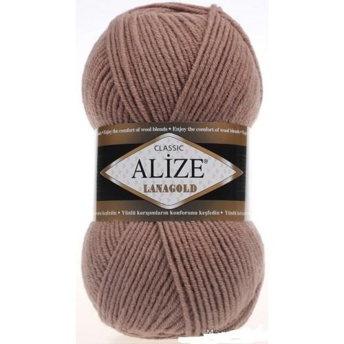 Пряжа Alize-Ланаголд (Lanagold) цв-584 (кофе с молоком)