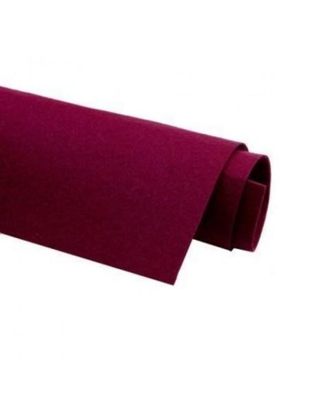 Корейский фетр,жесткий,бордовый.1,5 мм,размер 33*26см