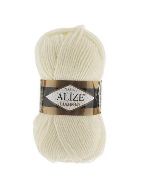 Пряжа Alize-Ланаголд (Lanagold) цв-62 (молочный)