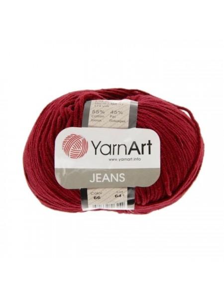 """Пряжа  YarnArt """"Jeans Джинс""""цв. 66, бордо"""