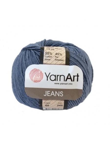 """Пряжа  YarnArt """"Jeans Джинс""""цв. 68, джинс"""