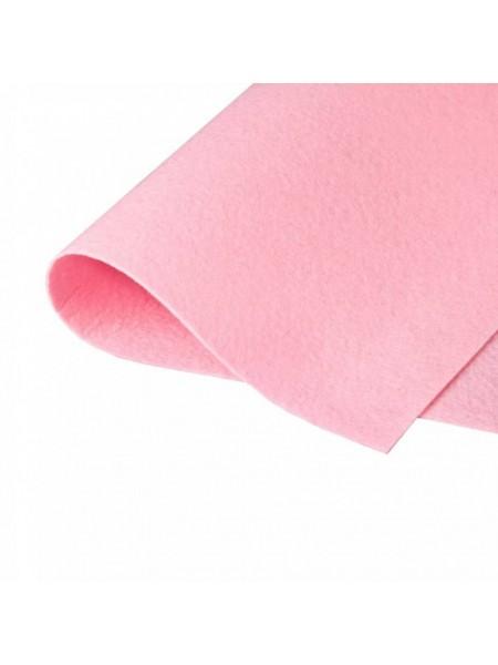 Корейский фетр,жесткий,розовый.1,5 мм,размер 33*26см