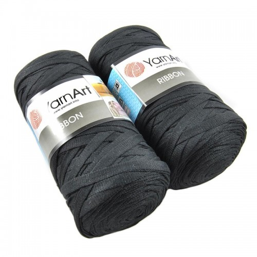 Пряжа Ribbon 250гр - 125м (Черный) YarnArt,№750