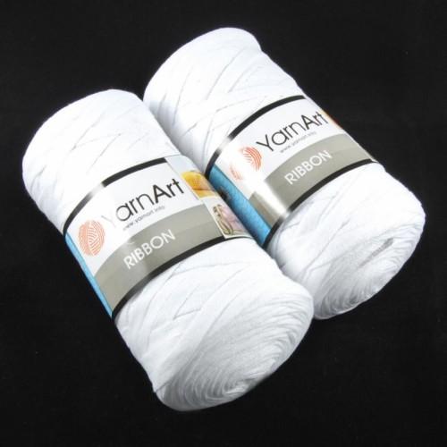 Пряжа Ribbon 250гр - 125м (Белый) YarnArt,№751