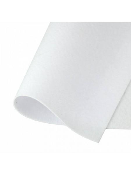 Корейский фетр,жесткий,белый.1,5 мм,размер 33*26см
