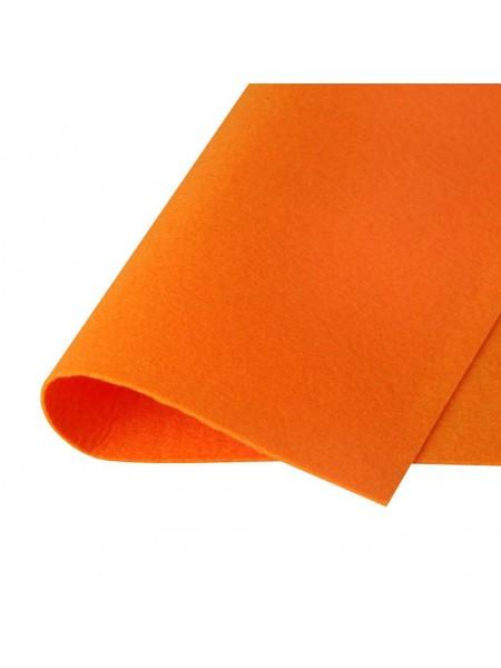 Корейский фетр,жесткий,оранжевый.1,5 мм,размер 33*26см