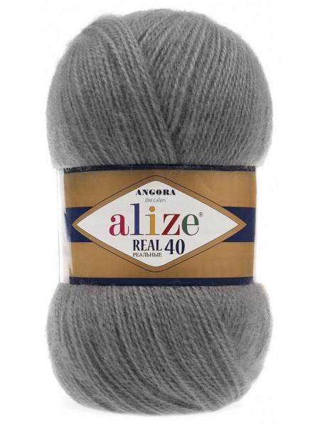 Пряжа Ализе Ангора реал 40,цвет 87 -серый