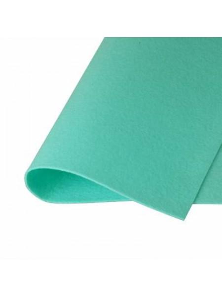 Корейский фетр,жесткий,мятно-бирюзовый.1,5 мм,размер 33*26см