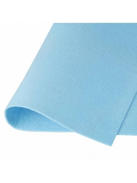 Корейский фетр,жесткий,голубой.1,2 мм,размер 33*26см