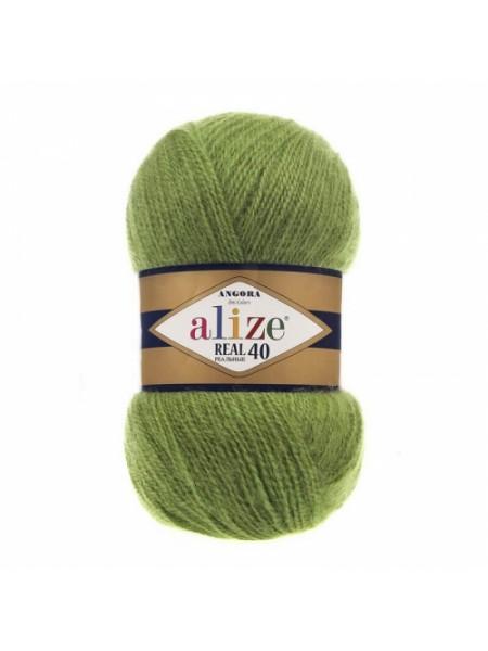 Пряжа Ализе Ангора реал 40,цвет 485 -зеленый