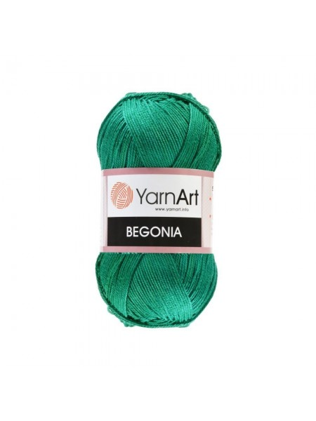 Пряжа Begonia YarnArt-Бегония.№6334,цв-изумруд, 50гр-169 м