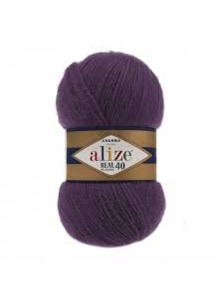 Пряжа Ализе Ангора реал 40,цвет 111 -сливовый
