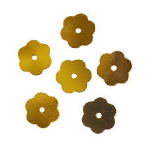 Пайетки Цветочки,10гр,цв золото, А600-А1