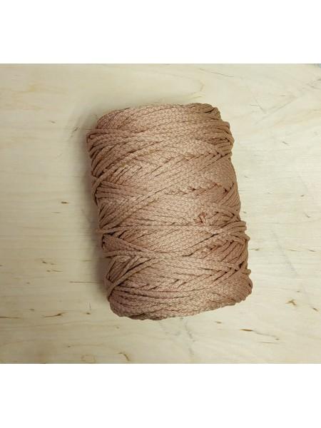 Шнур для вязания,  3мм, цв. светло-коричневый,200 метров