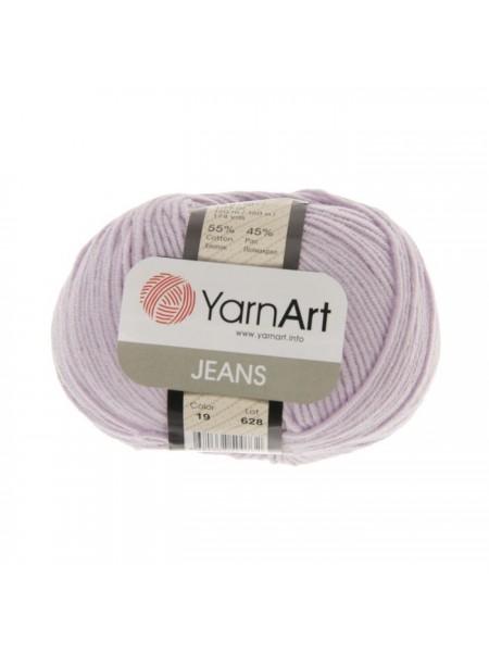 "Пряжа  YarnArt ""Jeans Джинс""цв. 19, светло-сиреневый"