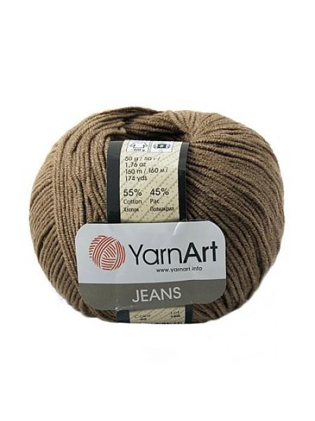 "Пряжа  YarnArt ""Jeans Джинс""цв. 40, тёмно-коричневый"