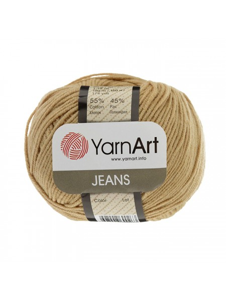 "Пряжа  YarnArt ""Jeans Джинс""цв. 48, тёмный-беж"