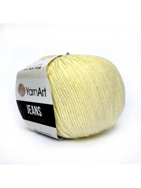 """Пряжа  YarnArt """"Jeans Джинс""""цв. 86, пастельный жёлтый"""