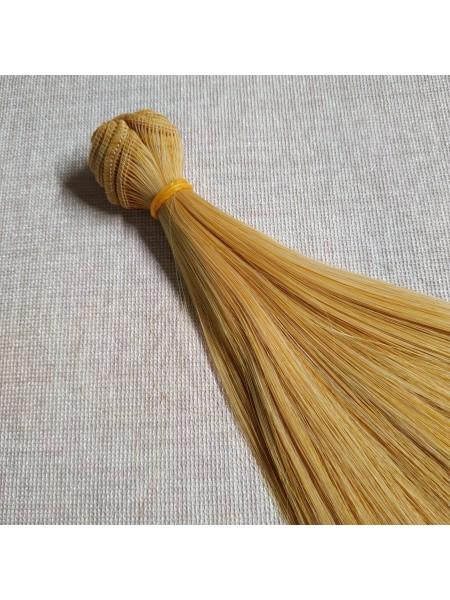 Трессы-прямые (волосы для кукол) ,с лёгким мелированием,15см