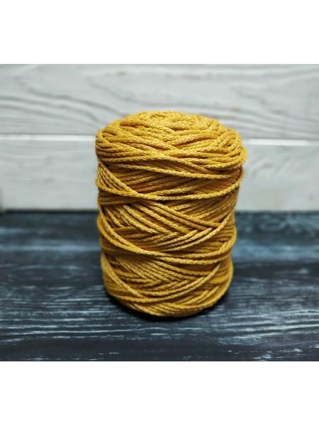 Шнур для вязания,  3мм, цв. горчица,200 метров