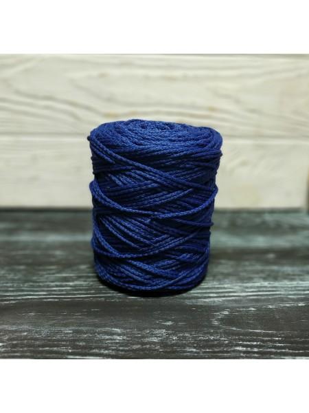 Шнур для вязания,  3мм, цв. синий ,200 метров