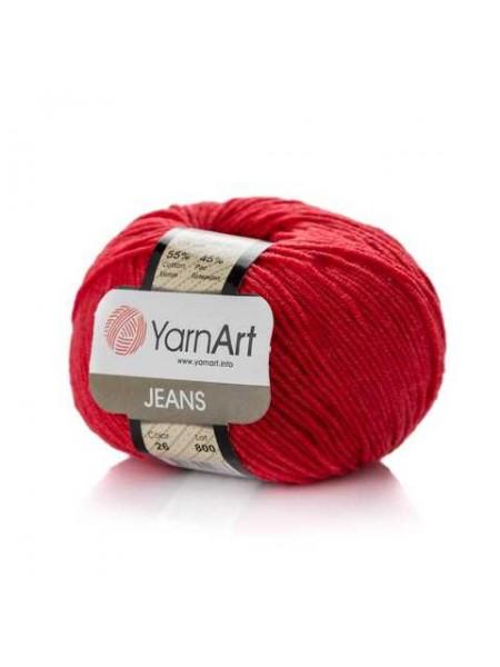 """Пряжа  YarnArt """"Jeans Джинс""""цв. 26, красный"""