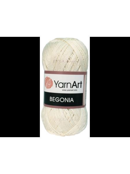 Пряжа Begonia YarnArt-Бегония.№003,цв-молочный, 50гр-169 м