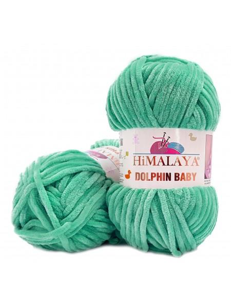 Плюшевая пряжа Долфин Бэби,цв-мятно-зеленый,№354,100гр